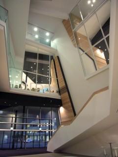 Linde Agora Lobby Eingangsfassade