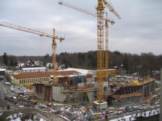Linde Agora Rohbau Hauptzugang