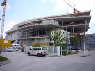 Linde Agora Rohbau Nordseite