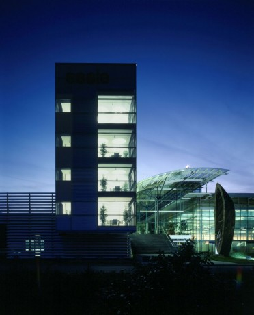 Bürohaus _Seele_Nachtaufnahme