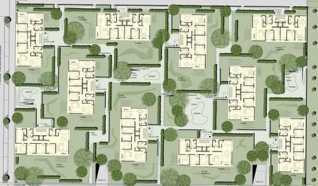 Mehrfamilienhäuser im Scharnhauser Park, Grundriss EG