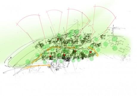 Stadteingang-Parksiedlung-Skizzenlageplan