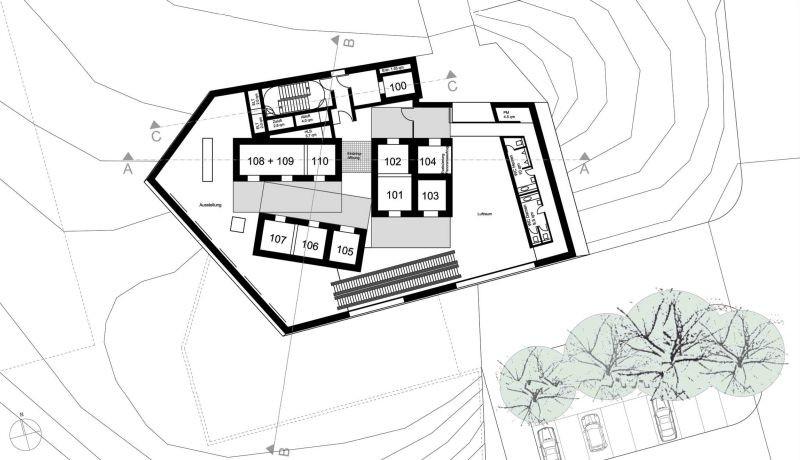 ThyssenKrupp Testturm Grundriss Erdgeschoss