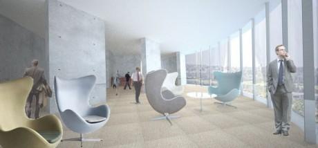 ThyssenKrupp Testturm Innenraumperspektive - Plattform