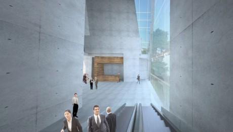 ThyssenKrupp Testturm Innenraumperspektive - Rolltreppe