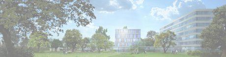 Blick über den Welzbach Linde Hydraulics GmbH Campus Aschaffenburg