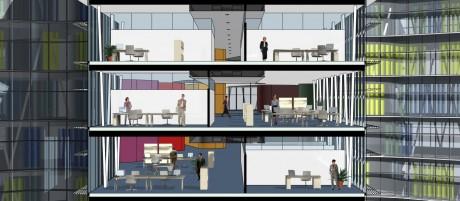 SAP Campus II Walldorf Schnitt Büroflügel 1
