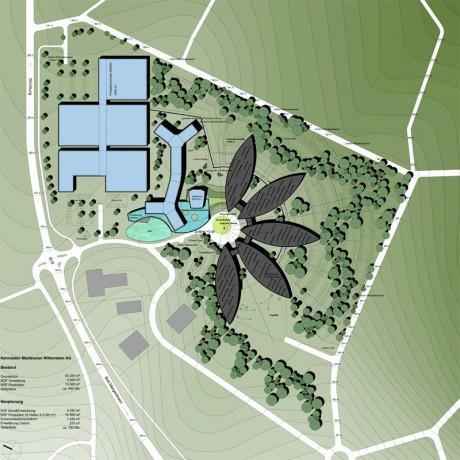 Masterplankonzeption Wittenstein AG, Lageplan