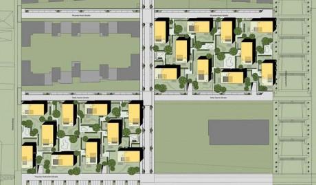 Mehrfamilienhäuser im Scharnhauser Park, Lageplan