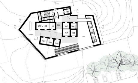 ThyssenKrupp Testturm Grundriss Galerieebene